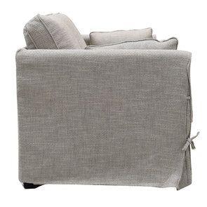 Canapé 2 places en tissu gris losange  - Welsh - Visuel n°3