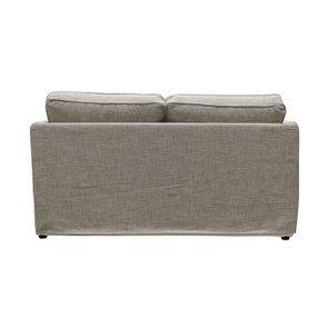 Canapé 2 places en tissu gris losange  - Welsh - Visuel n°4