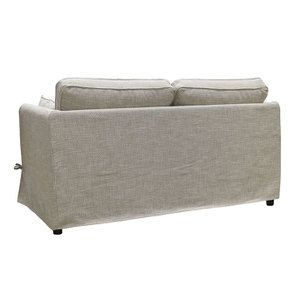 Canapé 2 places en tissu gris losange  - Welsh - Visuel n°5