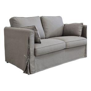 Canapé 2 places en tissu gris losange  - Welsh - Visuel n°6