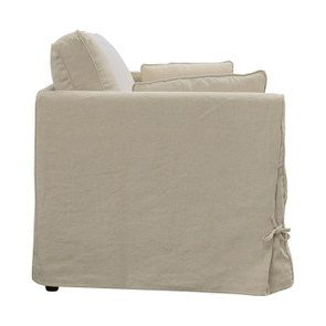 Canapé 2 places en tissu couleur lin naturel  - Welsh - Visuel n°4