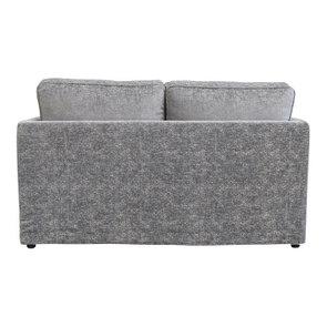 Canapé 2 places en tissu gris - Welsh - Visuel n°3