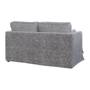 Canapé 2 places en tissu gris - Welsh - Visuel n°4