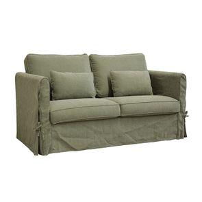 Canapé 2 places en tissu vert kaki - Welsh - Visuel n°2