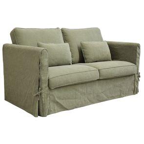 Canapé 2 places en tissu vert kaki - Welsh - Visuel n°6