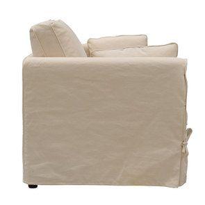 Canapé 2 places en tissu crème - Welsh - Visuel n°3
