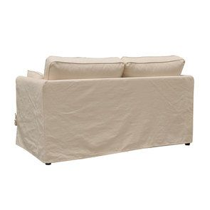 Canapé 2 places en tissu crème - Welsh - Visuel n°5