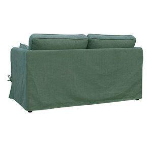 Canapé convertible 2 places en tissu vert sapin - Welsh - Visuel n°10