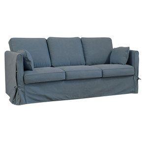 Canapé 4 places en tissu bleu orage - Welsh - Visuel n°2
