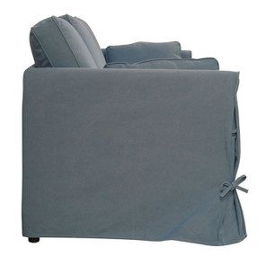 Canapé 4 places en tissu bleu orage - Welsh - Visuel n°5