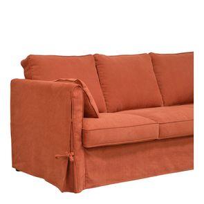 Canapé 4 places en tissu rouge - Welsh - Visuel n°3
