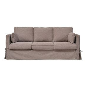 Canapé convertible 4 places en tissu marron - Welsh