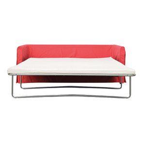 Canapé convertible 4 places en tissu rouge - Welsh - Visuel n°2