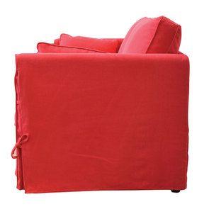 Canapé convertible 4 places en tissu rouge - Welsh - Visuel n°7