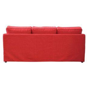 Canapé convertible 4 places en tissu rouge - Welsh - Visuel n°8