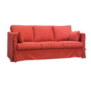 Canapé convertible 4 places rouge en tissu  - Welsh - Visuel n°5