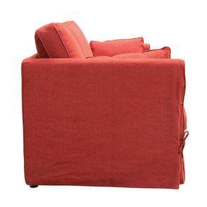 Canapé convertible 4 places rouge en tissu  - Welsh - Visuel n°6