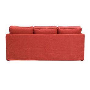 Canapé convertible 4 places rouge en tissu  - Welsh - Visuel n°7