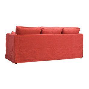 Canapé convertible 4 places rouge en tissu  - Welsh - Visuel n°8