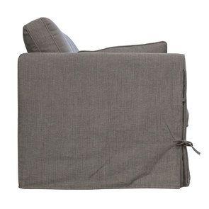 Canapé convertible 4 places en tissu gris  - Welsh - Visuel n°8
