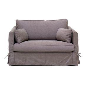 Canapé 2 places en tissu marron - Mini Welsh
