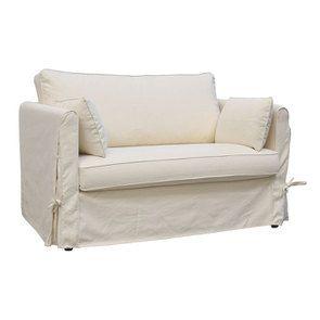 Canapé 2 places en tissu écru - mini Welsh - Visuel n°2