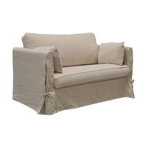 Canapé 2 places en tissu couleur lin beige - mini Welsh - Visuel n°3