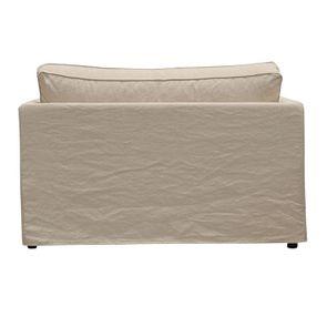 Canapé 2 places en tissu couleur lin beige - mini Welsh - Visuel n°5