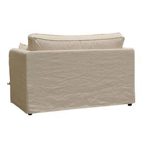Canapé 2 places en tissu couleur lin beige - mini Welsh - Visuel n°6