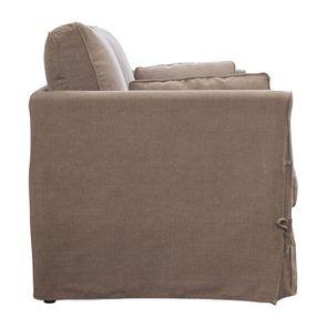 Canapé 2 places en tissu couleur lin beige - mini Welsh - Visuel n°7