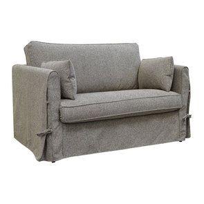 Canapé 2 places en tissu gris - mini Welsh - Visuel n°2