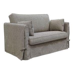 Canapé 2 places en tissu gris - mini Welsh - Visuel n°3