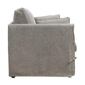 Canapé 2 places en tissu gris - mini Welsh - Visuel n°4