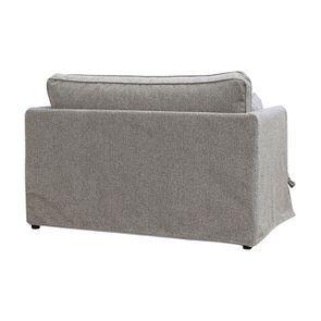 Canapé 2 places en tissu gris - mini Welsh - Visuel n°5