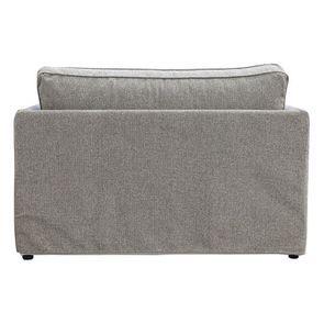 Canapé 2 places en tissu gris - mini Welsh - Visuel n°6