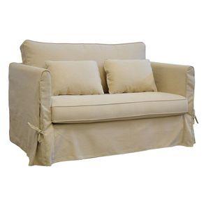 Canapé 2 places en tissu beige - Mini Welsh - Visuel n°2