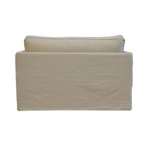 Canapé 2 places en tissu beige - Mini Welsh - Visuel n°4