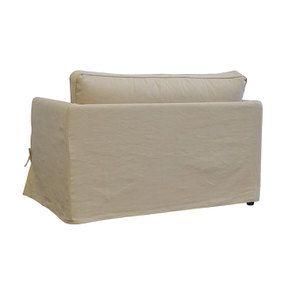 Canapé 2 places en tissu beige - Mini Welsh - Visuel n°5