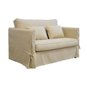 Canapé 2 places en tissu beige - Mini Welsh - Visuel n°6