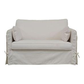 Canapé convertible 2 places en tissu blanc - Mini Welsh