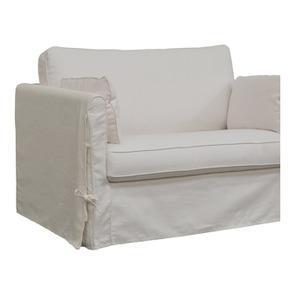 Canapé convertible 2 places en tissu blanc - Mini Welsh - Visuel n°4
