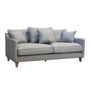 Canapé 4 places en tissu gris clair - Rivoli - Visuel n°3