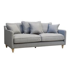 Canapé 4 places en tissu gris clair - Rivoli - Visuel n°4