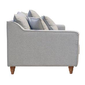 Canapé 4 places en tissu gris clair - Rivoli - Visuel n°5