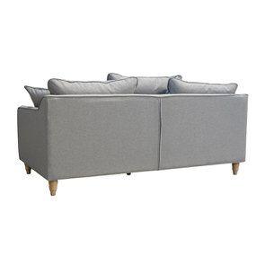 Canapé 4 places en tissu gris clair - Rivoli - Visuel n°10