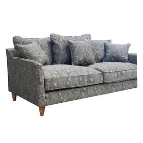 Canapé 4 places en tissu gris à motifs - Rivoli