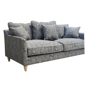 Canapé 4 places en tissu gris à motifs - Rivoli - Visuel n°12