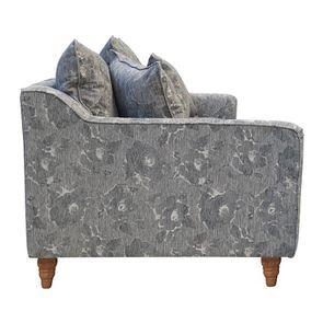 Canapé 4 places en tissu gris à motifs - Rivoli - Visuel n°5