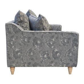 Canapé 4 places en tissu gris à motifs - Rivoli - Visuel n°6