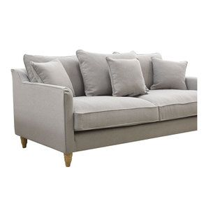Canapé 4 places en tissu gris clair- Rivoli - Visuel n°6